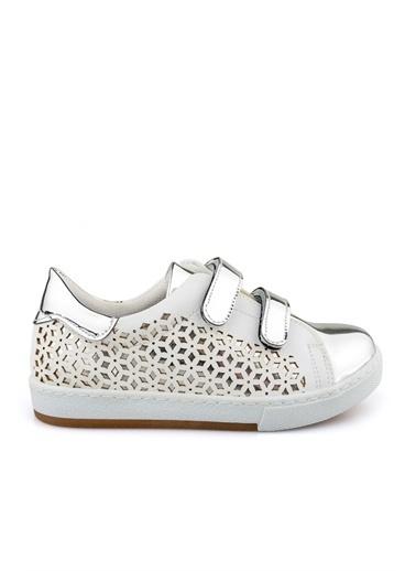 Cicibebe Ayna Kız Çocuk Ayakkabısı Beyaz
